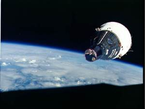 Gemini 6 & 7 rendezvous at 17,500mph. (Photo courtesy of NASA)