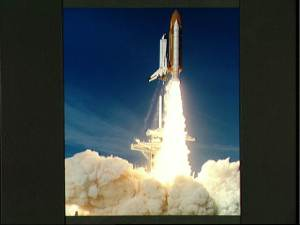 By the time it cleared the tower, the shuttle was already moving at over 100 mph. (Photo courtesy of NASA)